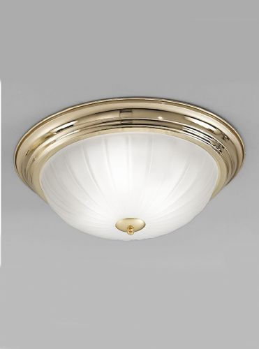 Franklite CF5640 Brass Flush Light